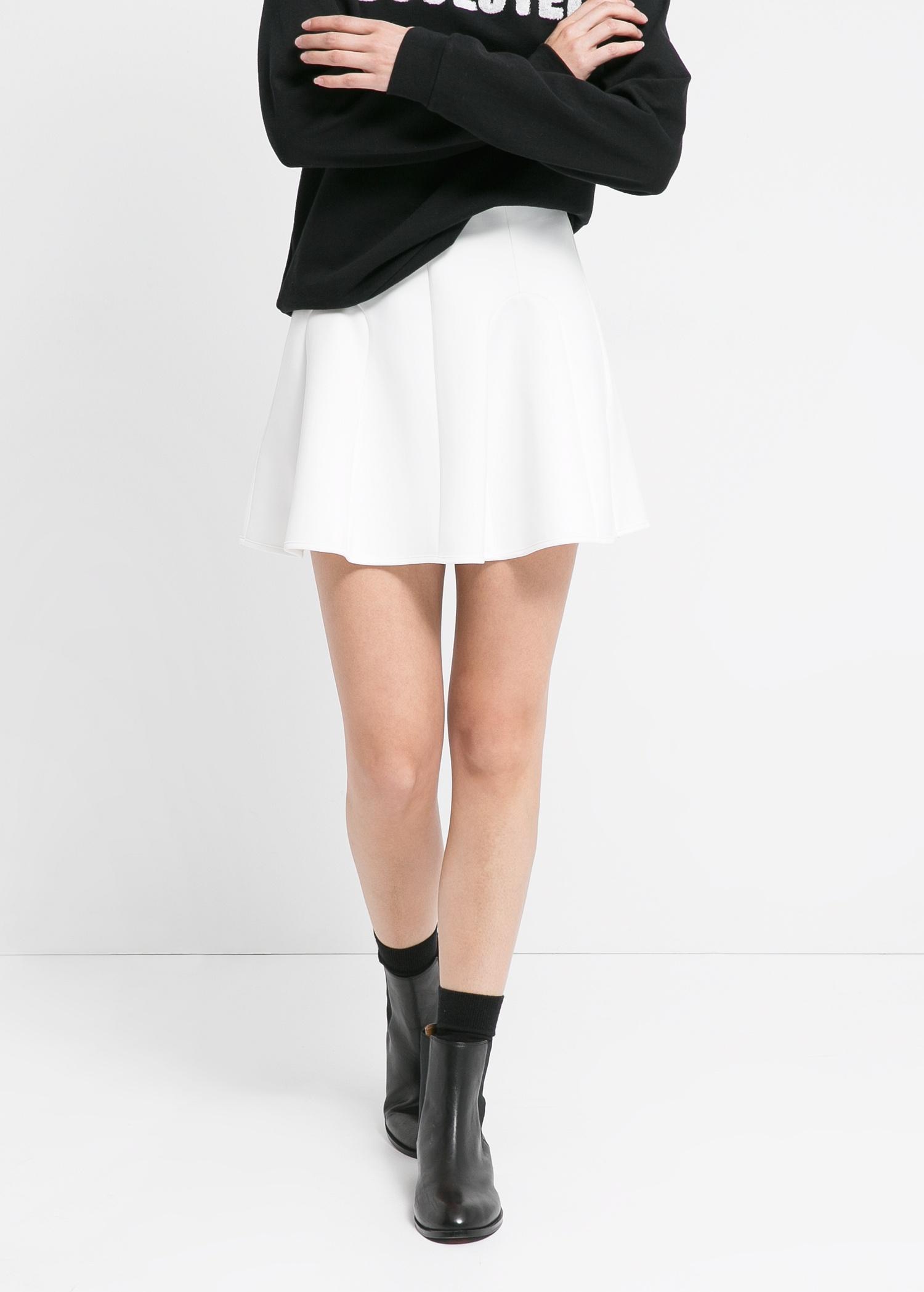 Neoprene-effect skater miniskirt - Women | MANGO