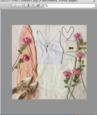 dress white shoes high heals purse cardigan sweater