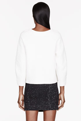 Marc By Marc Jacobs Ivory Quilted Cleo Sweatshirt for women | SSENSE