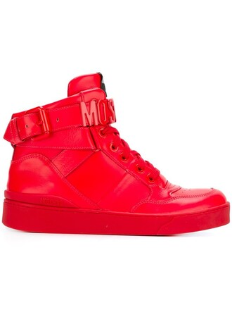 sneakers red shoes