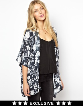 Love | Love Kimono in Large Floral at ASOS