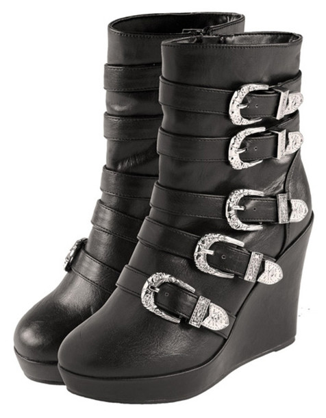 Ankle Boots Buckles Buckle Wedges Ankle Boots