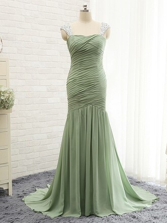 dress elegant green prom homecoming dress formal gown dressofgirl