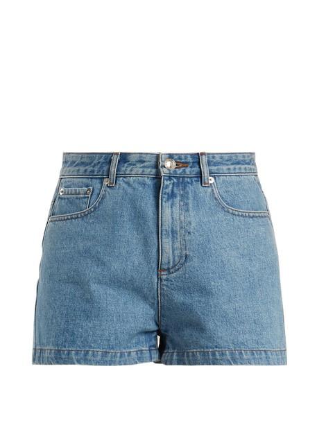 A.P.C. shorts denim shorts denim high light blue light blue