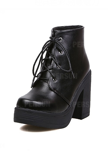 Stylish Thick Heel Lace-up Martin Boot [FABI1327] - PersunMall.com