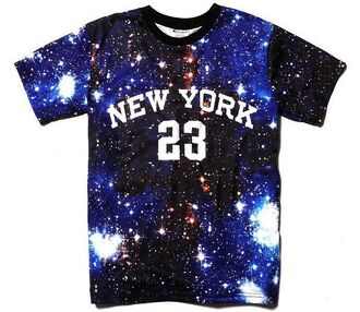 ny new york city t-shirt pyrex galaxy print 23