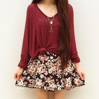 skirt t-shirt