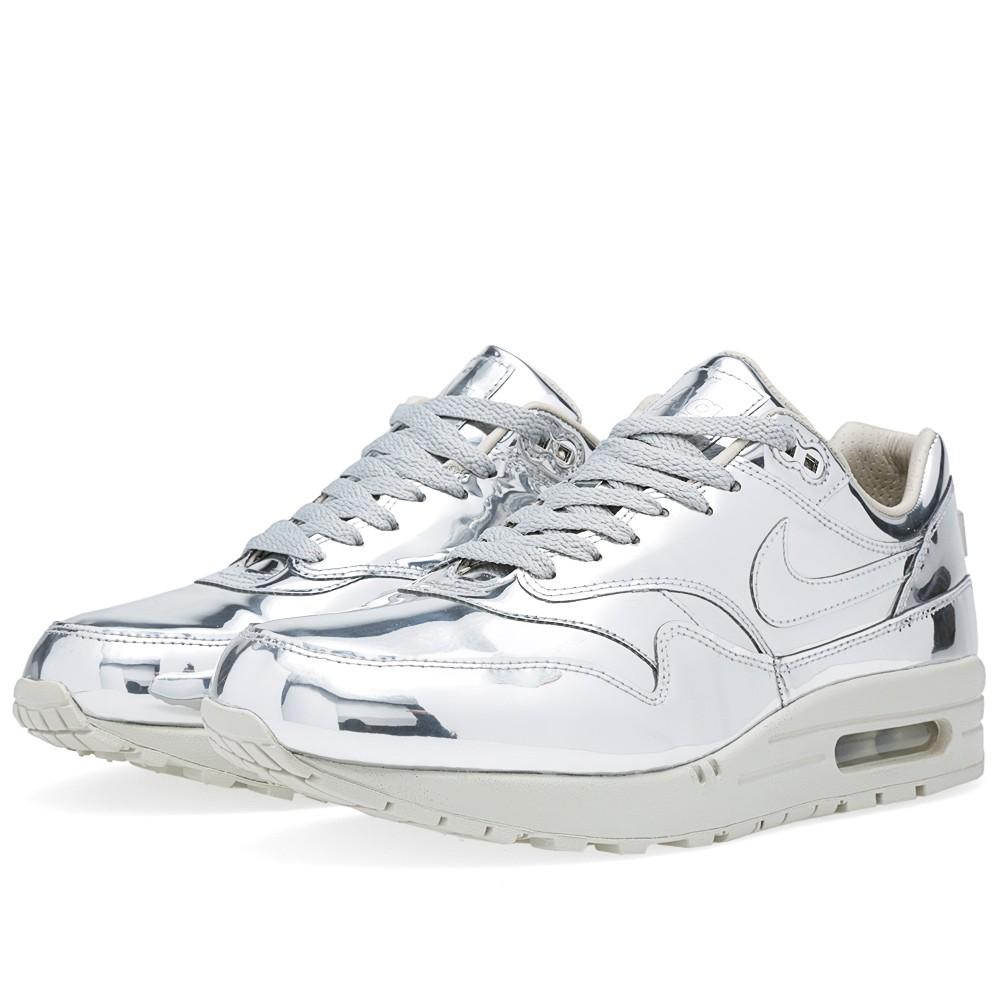 super popular 16ffe 11d4e Nike Air Max 1 SP 'Liquid Silver' (Metallic Silver & Light Bone)