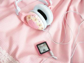 earphones headphones girly