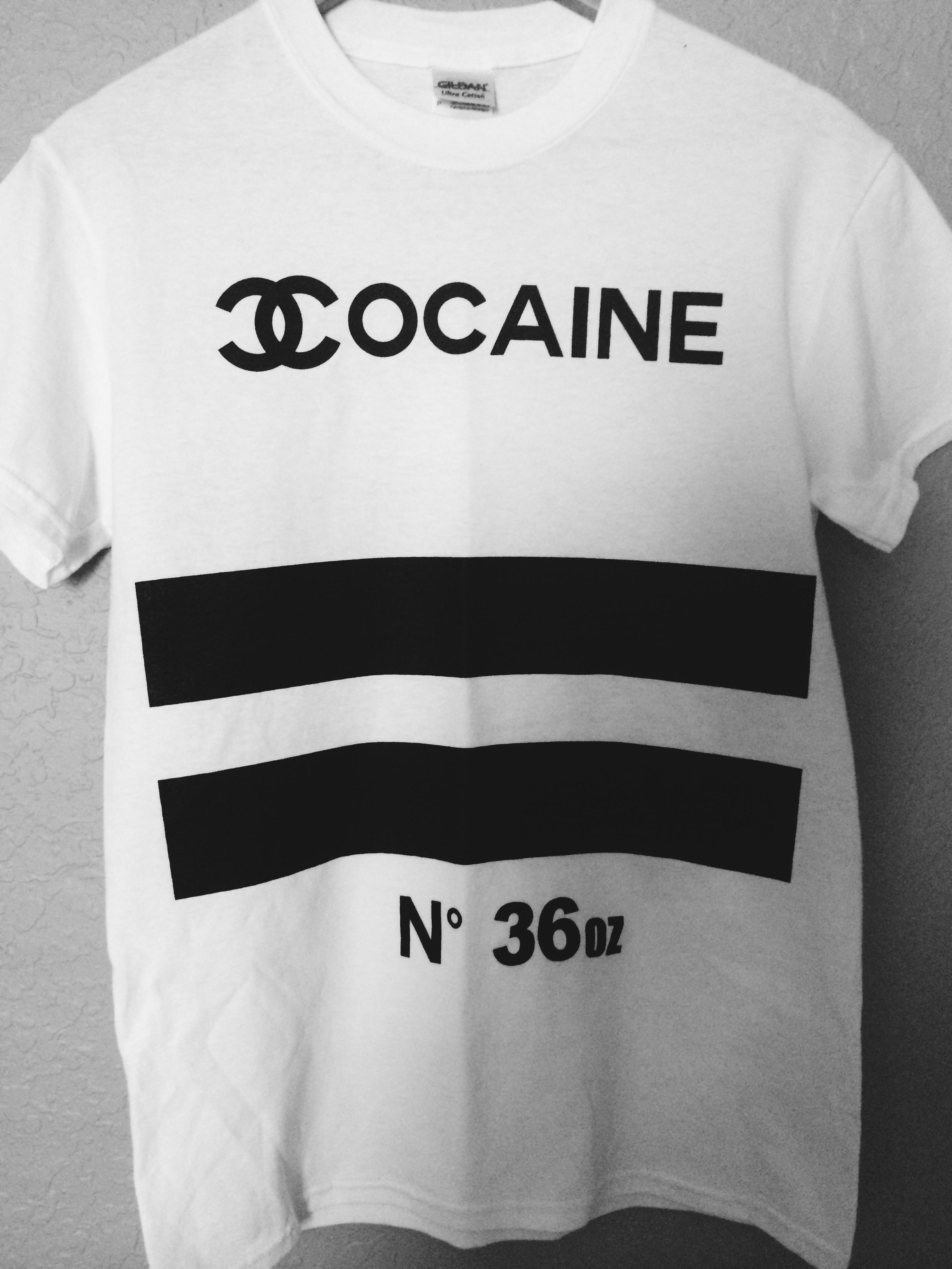 Cocaine Chanel Tee (White)