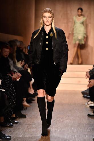 jacket dress bomber jacket givenchy fashion week 2016 paris fashion week 2016 model candice swanepoel runway