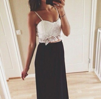 top cropped white white lace lace sleeveless