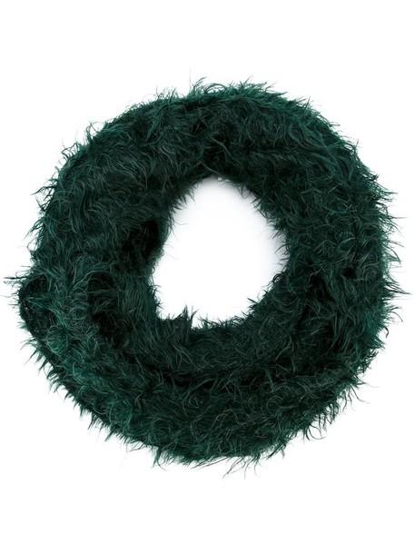 women scarf silk green