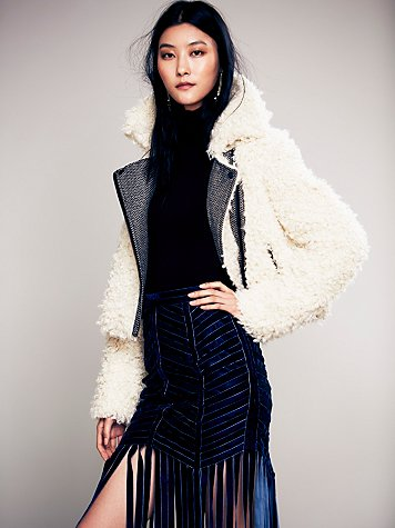 Free People  Shaggy Sherpa Coat at Free People Clothing Boutique