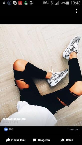 shoes leopard print nike nike shoes nike air max 1 lifestyle fashion tumblr love outfit like leopard nikes