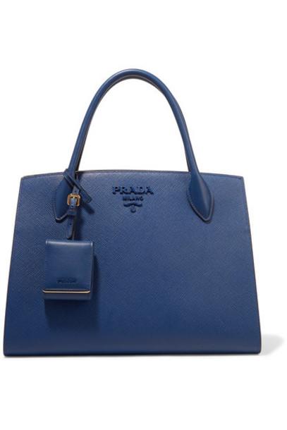 Prada leather blue bag