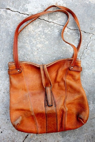 bag leather bag 70s style vintage vintage bag