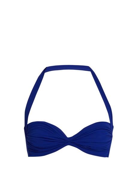 Norma Kamali bikini bikini top bandeau bikini blue swimwear
