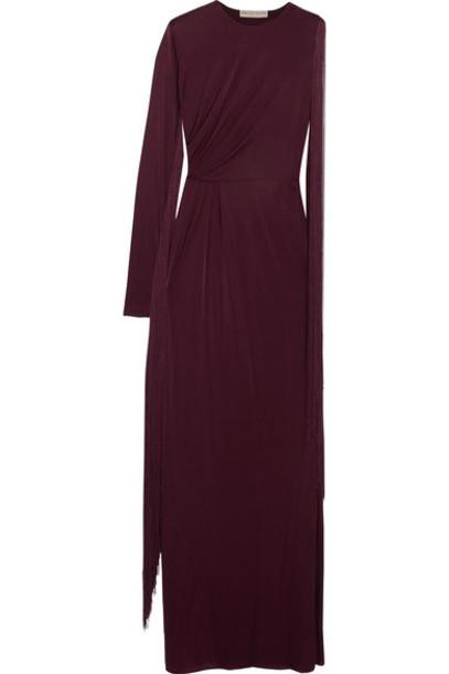 Emilio Pucci gown burgundy dress