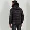 Fur puffer coat - black