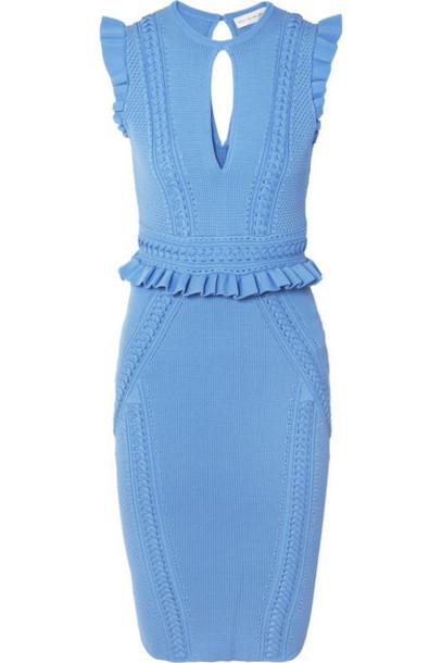 Rebecca Vallance dress blue knit
