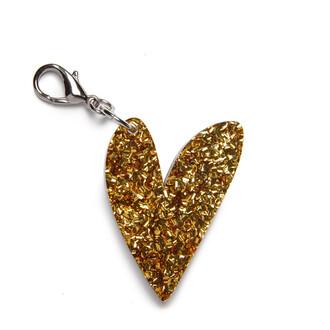 bag bag charm heart glitter keychain
