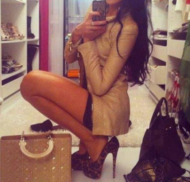 jacket bag shoes coat beige brown dior