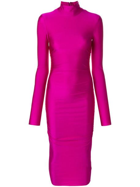 Erika Cavallini dress midi dress women midi spandex purple pink