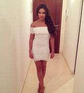 dress,white dress,off the shoulder dress,off the shoulder,summmer,mini dress