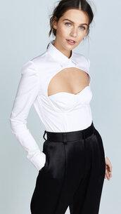blouse,blouse cut out