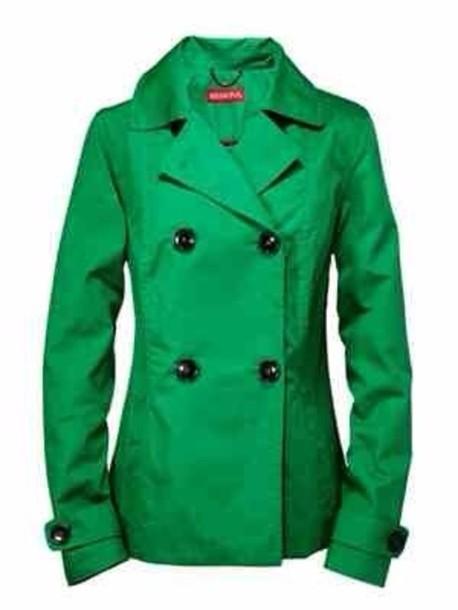coat green pea coat