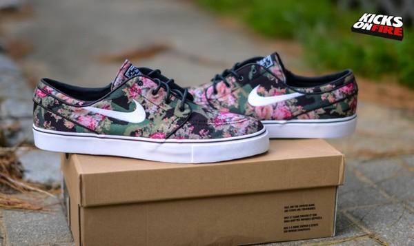 shoes camouflage camo shoes nike nike sb nike janoski floral