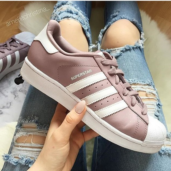 purchase cheap 9b224 f16f8 shoes adidas superstars adidas pink sneakers.