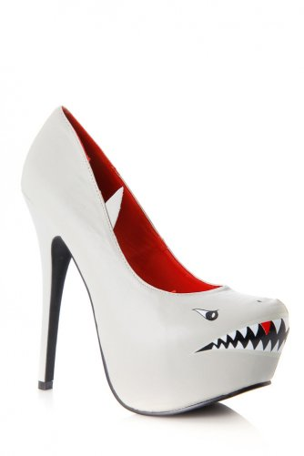 Styluxe Deadly Shark Pumps @ Cicihot Heel Shoes online store sales:Stiletto Heel Shoes,High Heel Pumps,Womens High Heel Shoes,Prom Shoes,Summer Shoes,Spring Shoes,Spool Heel,Womens Dress Shoes,Prom Heels,Prom Pumps,High Heel Sandals on Wanelo