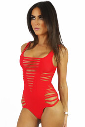 swimwear,red,sexy,hot,fashion,beach,one piece swimsuit,bodysuit,freevibrationz