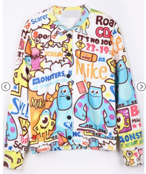 cartoon jacket kawaii disney oversized sweater