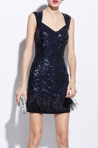 dress navy glitter party sparkle fashion trendy dezzal