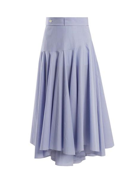 LOEWE skirt midi skirt midi cotton white blue