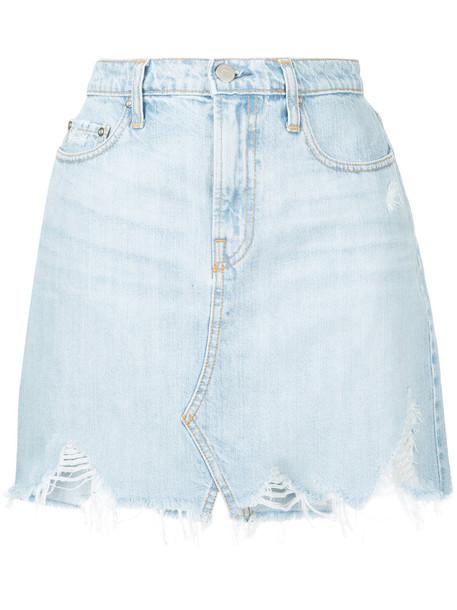 Nobody Denim skirt women cotton blue