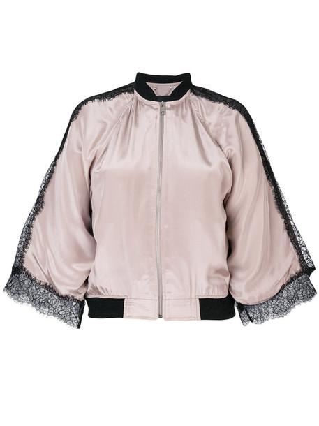 Diesel jacket women cotton purple pink