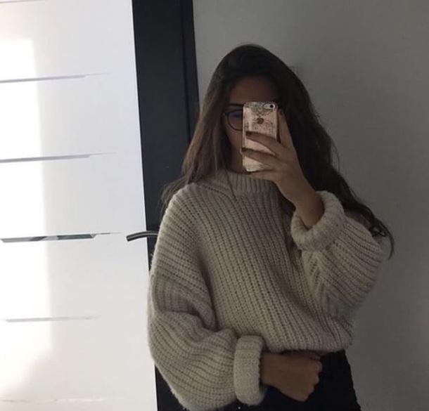 sweater fashion sweter tan brown