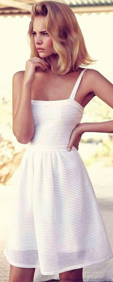 dress white white dress striped dress stripes
