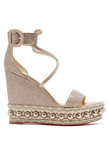 metallic wedges leather wedges gold leather shoes