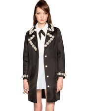 fall outfits,fall trends,embellished coat,pearl embellishment,structured coat,cocoon coat,black coat,boyfriend coat,back to school,cute coats,trendy coats,embellished collar,pearl,pre fall,transitional pieces,dress coat,affordable coats