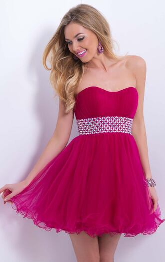 homecoming dress party dress strapless tulle dress sweetheart cocktail dresses beaded waist