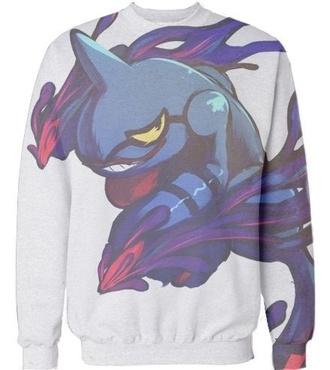 sweater sweater/sweatshirt sweatshirt graphic sweater graphic sweatshirt pokemon color colorful pok?mon sweater pokemon sweater frog animal anime