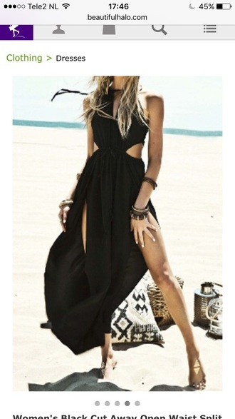 dress beach black dress summer trendy maxi dress beautifulhalo