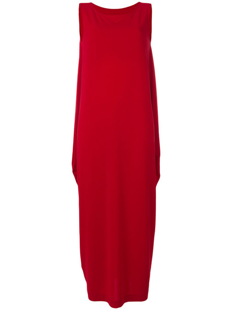 Issey Miyake dress shift dress long women red