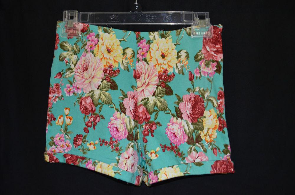 Brandy melville floral high waist shorts