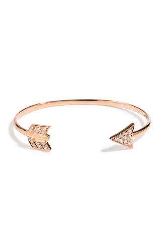 cuff rose gold rose arrow diamonds gold jewels